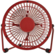 NEDIS mini ventilátor, stolní, USB, červená