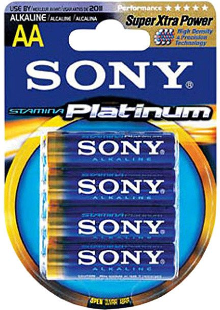 Sony alkalická baterie AM3PTB4D, 4ks LR06/AA, Stamina Platinum
