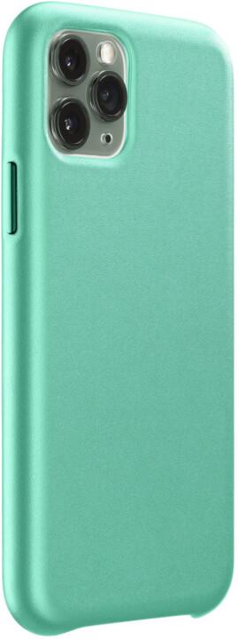 CellularLine ochranný kryt Elite pro Apple iPhone 11 Pro, PU kůže, zelená