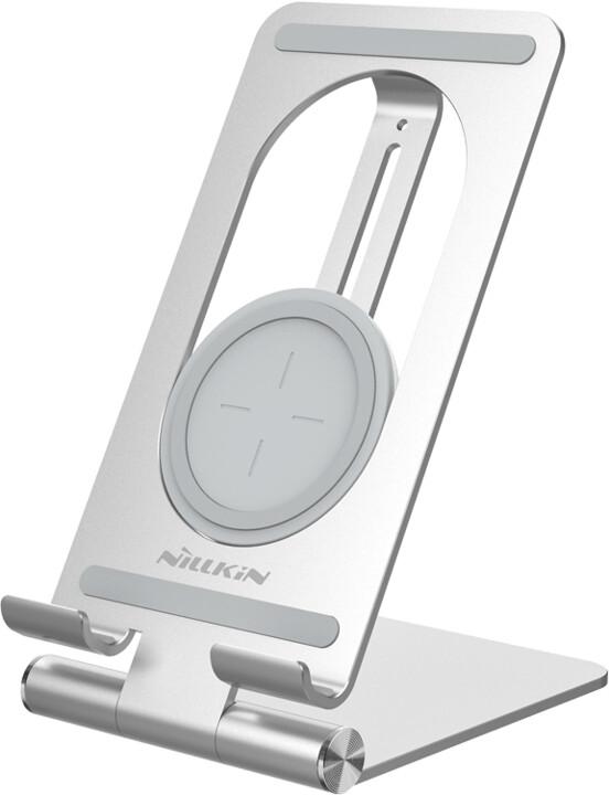 Nillkin stolní nabíječka PowerHold pro tablety, bezdrátová, srříbrná