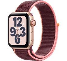 Apple Watch SE Cellular, 40mm, Gold, Plum Sport Loop S pojištěním od Mutumutu dostanete 5 000 Kč zpět - více ZDE