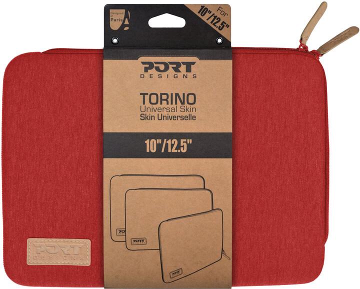 """Port Designs TORINO pouzdro na 10/12,5"""", červená"""