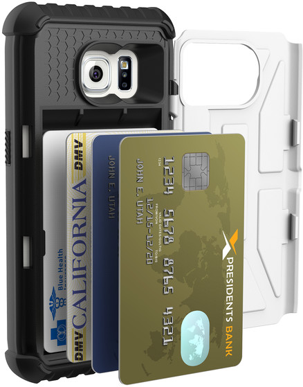 UAG card case Navigator, white - Galaxy S7