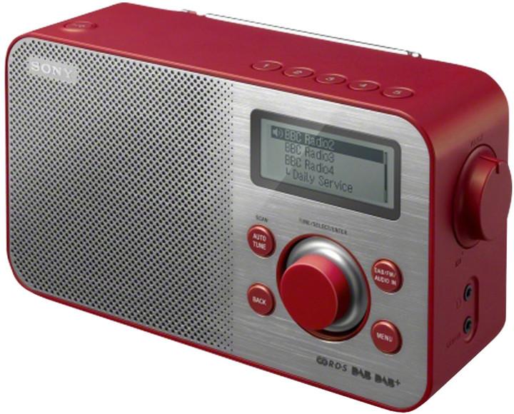 Sony XDR-S60DBP, červená