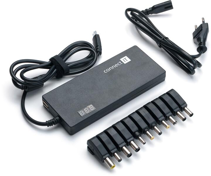 CONNECT IT Notebook Power univerzální adaptér s displejem 90 W