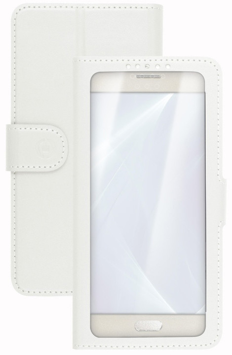 "CELLY View Unica pouzdro typu kniha, velikost L, 4"" - 4.5"", bílé"
