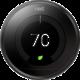 Nest Learning Thermostat Black, černá