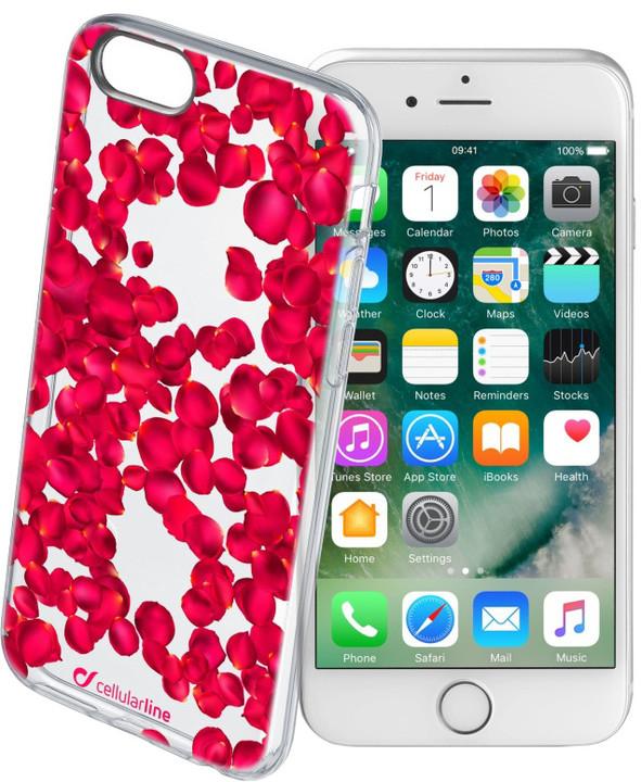 CellularLine STYLE průhledné gelové pouzdro pro iPhone 7, motiv ROSES