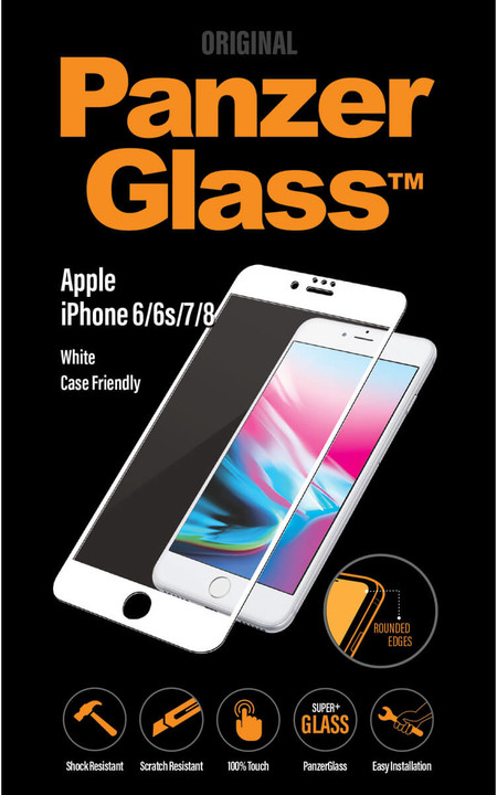 PanzerGlass Premium Privacy pro Apple iPhone 6/6s/7/8, bílé