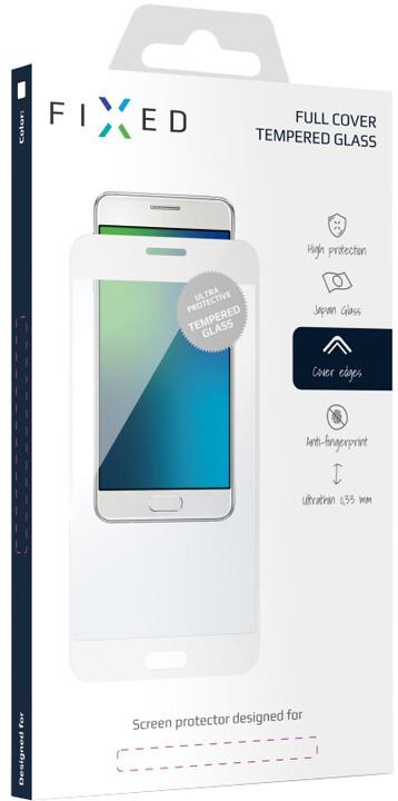 FIXED Full-Cover ochranné tvrzené sklo pro Honor 8 Pro, přes celý displej, bílé