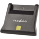 Nedis čtečka čipových karet, USB, Smart Card ID-1, standardní biometrické čipy, USB 2.0, černá
