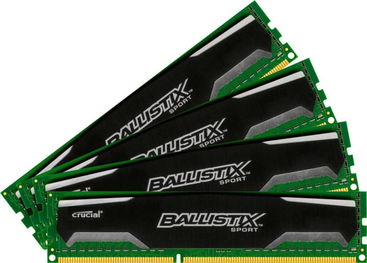 Crucial Ballistix Sport 32GB (4x8GB) DDR3 1600