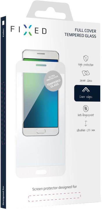 FIXED Full-Cover ochranné tvrzené sklo pro Huawei Mate 10 Lite, přes celý displej, bílé
