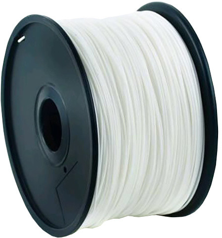 Gembird tisková struna (filament), ABS, 1,75mm, 1kg, bílá