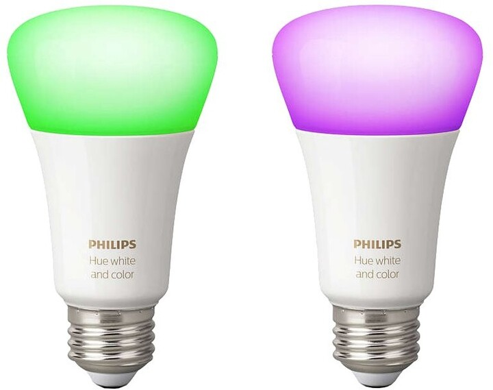 PHILIPS Hue White and color ambiance, 2x žárovka 10W E27 A19 DIM