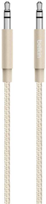 Belkin MIXIT 3,5mm Jack M/M Metallic kabel, 1,2 m, zlatá