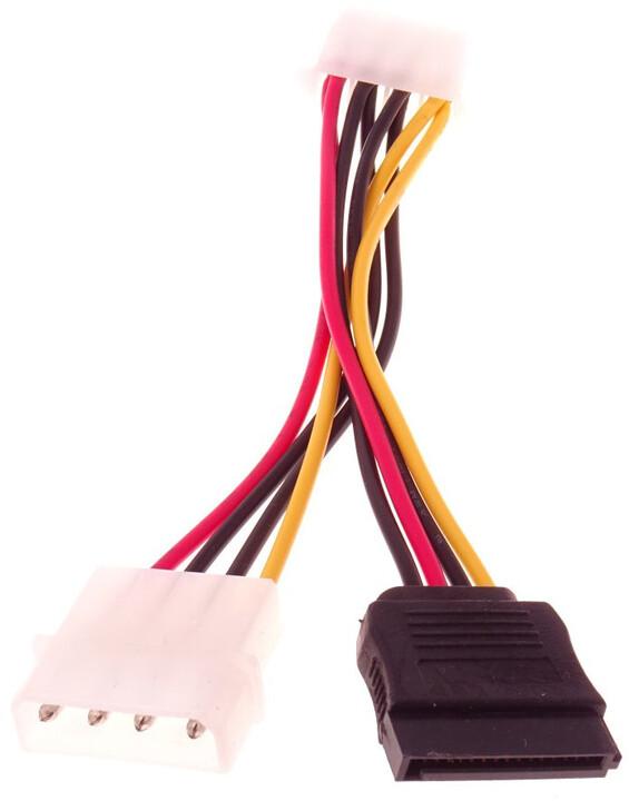 """PremiumCord napájecí kabel Y 5.25"""" - S-ATA + 5,25"""""""