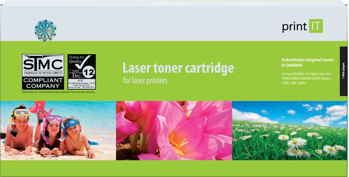 PRINT IT alternativní HP Q6000A CLJ2600 Black toner