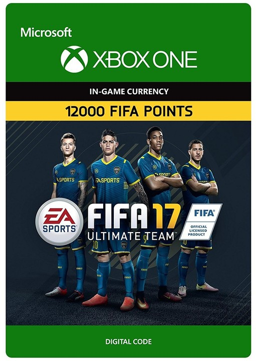 FIFA 17 - 12000 FUT Points (Xbox ONE) - elektronicky