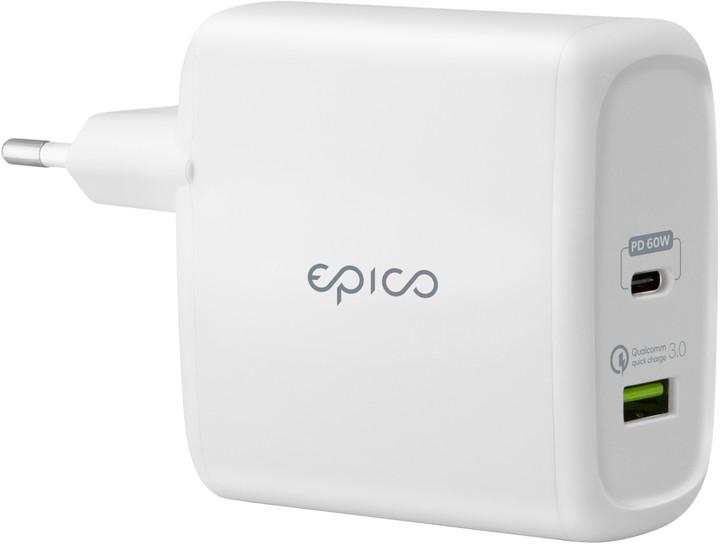 EPICO 60W Pro charger, bílá