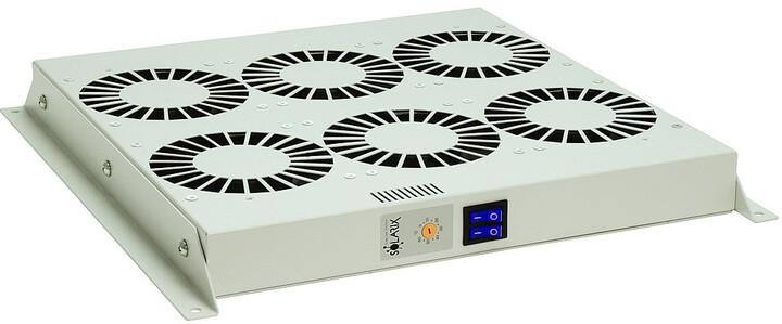 Solarix ventilační jednotka, 6 ventilátorů s termostatem. RAL 7035, VJ-R6