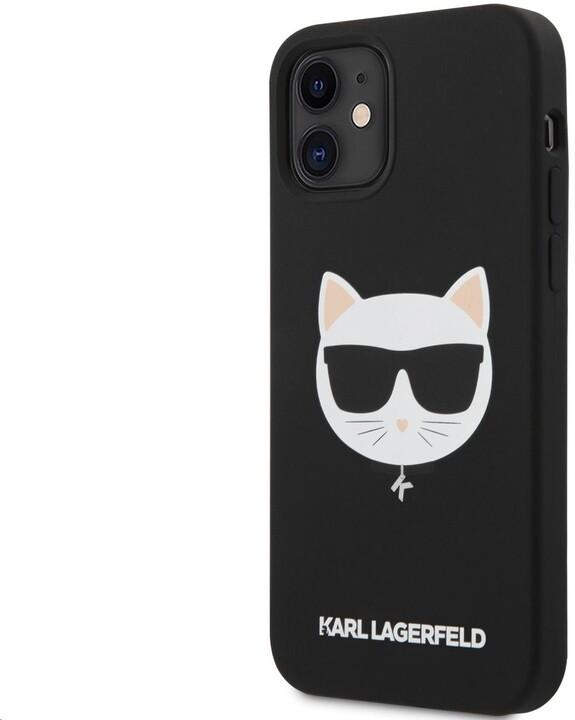 KARL LAGERFELD ochranný kryt Choupette Head pro iPhone 12 mini, černá