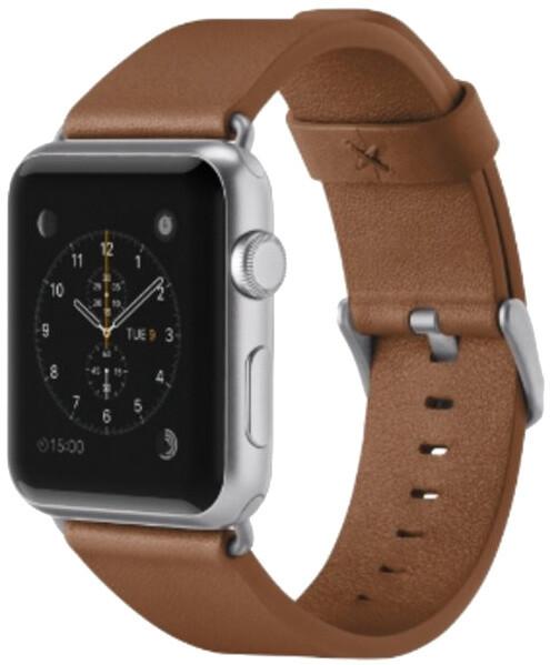 Belkin kožený řemínek pro Apple watch (42mm) - hnědá