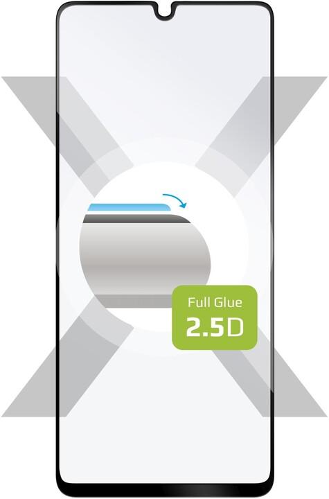 FIXED ochranné tvrzené sklo pro Samsung Galaxy A42, Full-Cover, 2.5D, černá