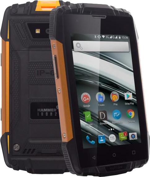 myPhone HAMMER IRON 2, černá/oranžová