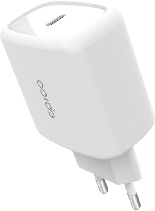 EPICO síťová nabíječka USB-C, PD 3.0, 20W, bílá
