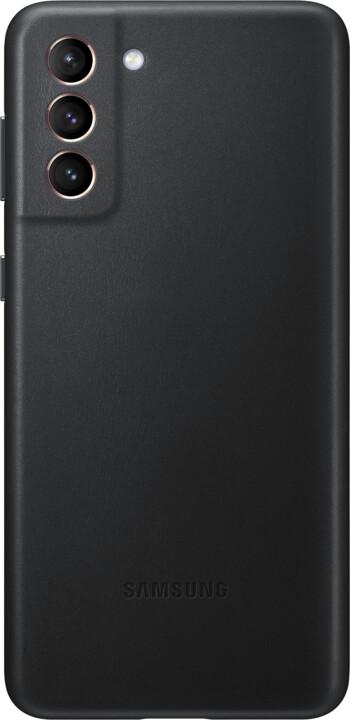 Samsung kožený kryt pro Galaxy S21+, černá