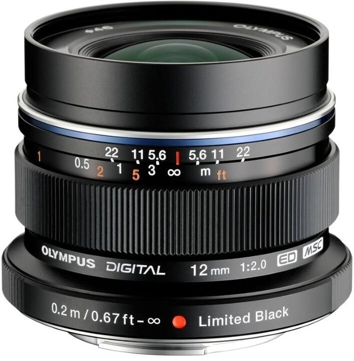Olympus EW-M1220 12mm F2.0, černá