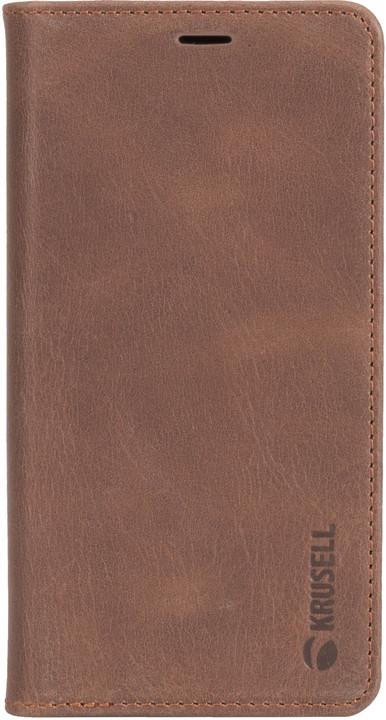 Krusell flipové pouzdro SUNNE 4 CARD Foliocase pro Apple iPhone X, hnědá