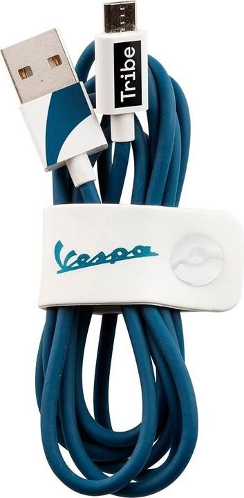 Tribe Vespa Micro USB kabel (120cm) - Modrý