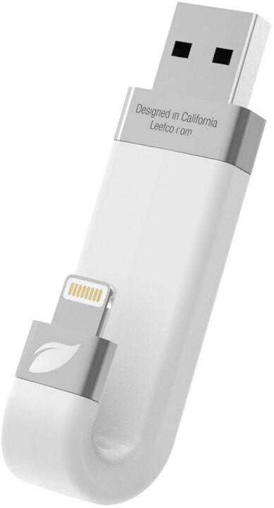Leef iBRIDGE - 16GB, Lightning, bílá