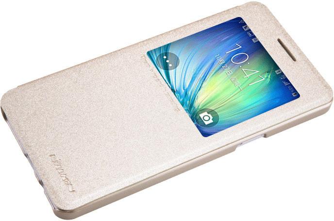 Nillkin Sparkle S-View pouzdro pro Samsung Galaxy A5, zlatá