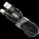 Baseus odolný nylonový kabel USB Lightning 2.4A 1M, zlatá + černá