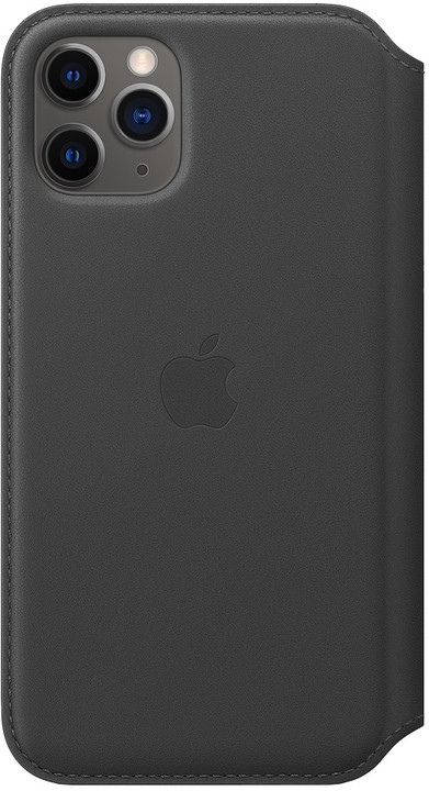 Apple kožené pouzdro Folio na iPhone 11 Pro, černá