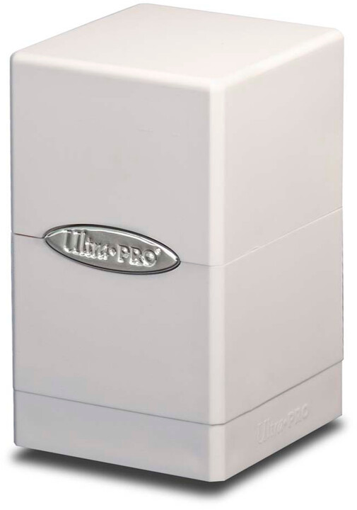 Krabička na karty Ultra Pro: Satin Tower, bílá