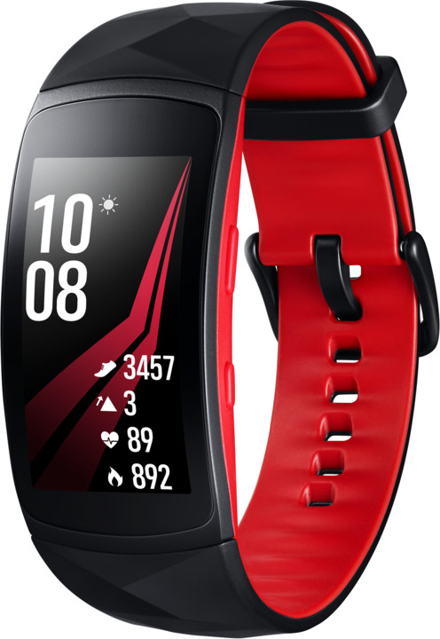 Samsung Gear Fit2 PRO, červená/černá