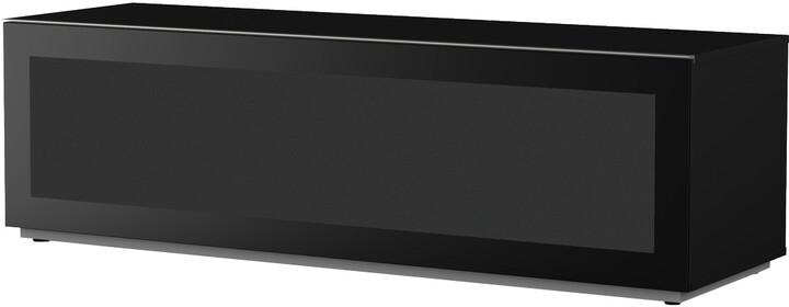 Meliconi 500411 TV stolek, skleněný 16050F, černá