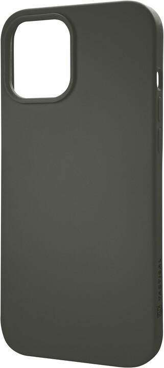"""Tactical silikonový kryt Velvet Smoothie pro iPhone 12/12 Pro (6.1""""), šedo-zelená"""