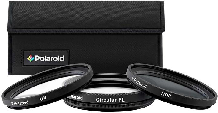 Polaroid Filter Kit 55mm MC UV, CPL, ND9