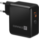 CONNECT IT QUICK CHARGE 3.0, QC 3.0, černý