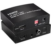 PremiumCord HDMI2.0 Repeater/Extender 4Kx2K@60Hz s oddělením audia, stereo jack, Toslink, RCA - khcon-41