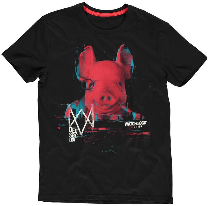 Tričko Watch Dogs: Legion - Pork Head (S)