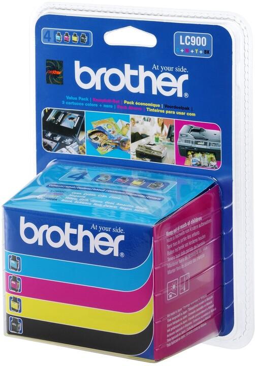 Brother LC-900 VALBP, multipack černá+C+M+Y