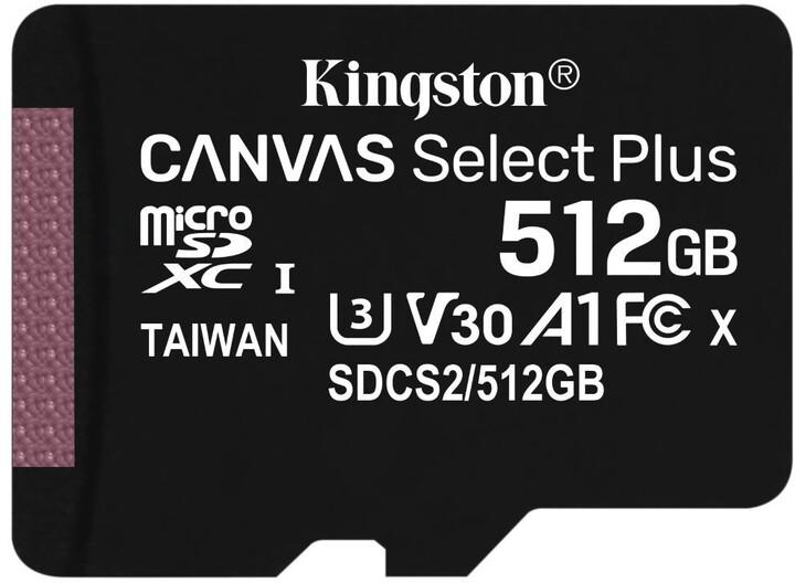 Kingston Micro SDXC Canvas Select Plus 100R 512GB 100MB/s UHS-I