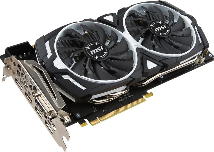 MSI GeForce GTX 1080 ARMOR 8G OC, 8GB DDR5X