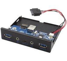 """i-tec přední panel do 3.5"""" pozice PC / USB-C / USB 3.0 / audio - U3CEXTENDA"""